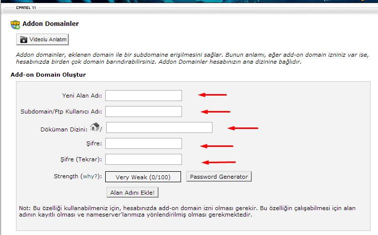 addon_domain_nedir_ekle