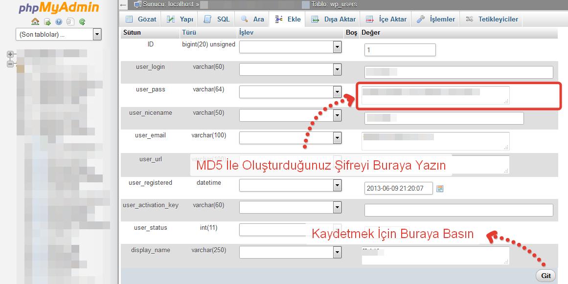 phpMyAdmin_Wordpress_Sifre_Degistir_2