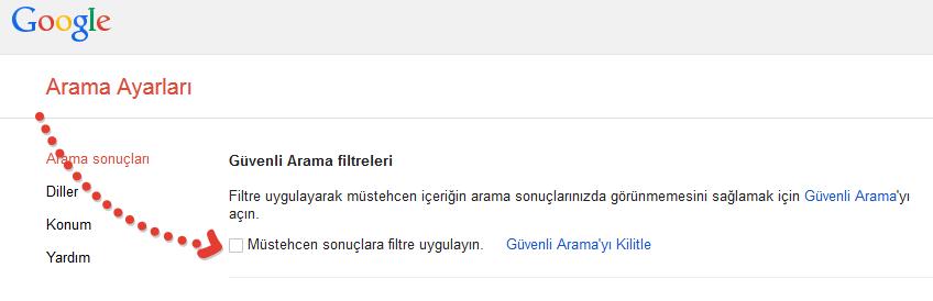 Google_Guvemli_Arama