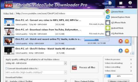 ChrisPC Bedava VideoTube İndirici